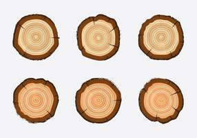Gratis Tree Rings Vector Illustratie