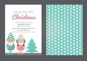 Tarjeta de Navidad del vector