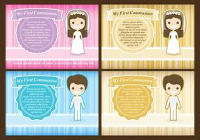 Communion Templates vector