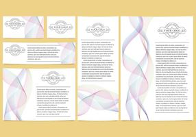 Colorful Lines Brand Templates vector