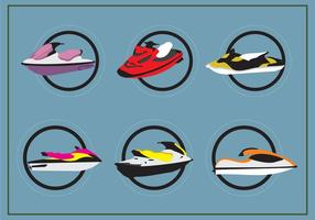Jet Ski Vectores