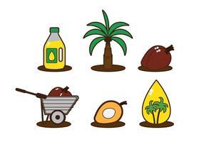 Vettore dell'olio di palma