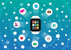 Gratis Smart Watch och Smartphone Vector