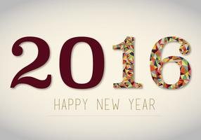 Gratis 2016 New Years Vector