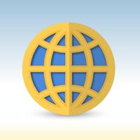 Flat Globe Logo Icon Vector