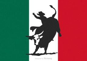 Free Rodeo Bull Rider Vector