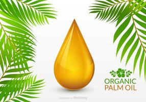 Palm Oil Drop Vector