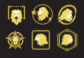 Lion Head Emblems vector