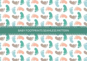 Libre bebé huellas patrón de vectores sin fisuras