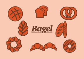 Bagel och Bread Vectors