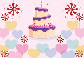 Sweet 16 Birthday Vector
