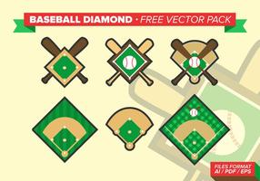 Baseball-Diamanten freien Vektor-Pack