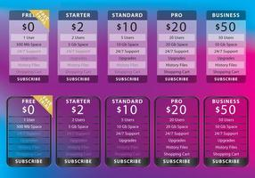 Transparent List Of Prices vector