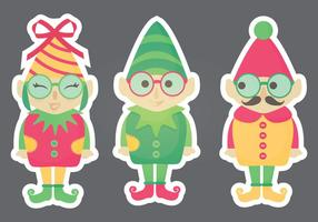 Vector Elf Stickers