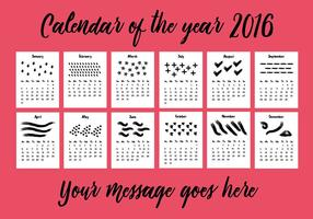 Free 2016 Calendar Vector Background