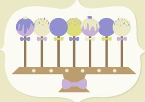 Gratis Cake Pop Vector