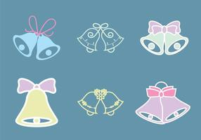 Illustration vectorielle gratuite de cloches de mariage