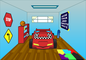 Free Kids Room Vector