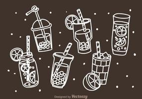Beverages Doddle Icons vector