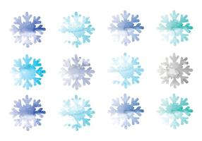 Vector Watercolor Snowflakes