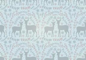 Vector Seamless Pattern Deer