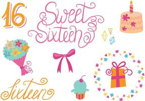 Free Sweet 16 Vectors