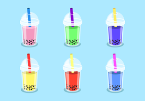 Gratis Bubble Tea Vector