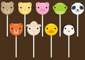 Animales lindos pasteles Pops