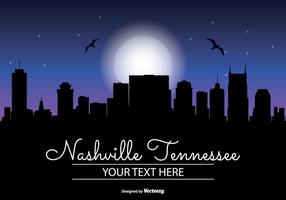 Nashville Night Skyline Illustratie