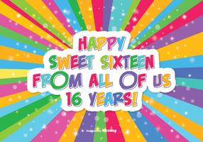 Happy Sweet 16 Illustration vector