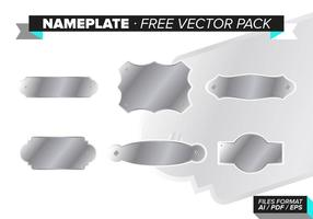 Nameplate Gratis Vector Pack