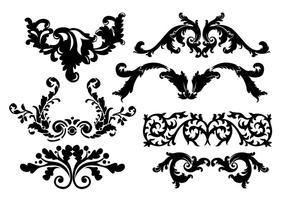 Scrollwork Verschönerungen Vektoren