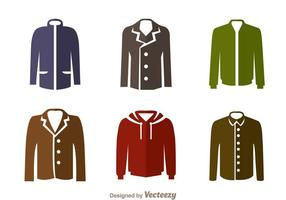 Jacket Flat Icons vector