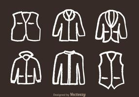 Jacket Chalk Draw Icons vector