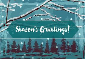 Season Greetings Vector Background