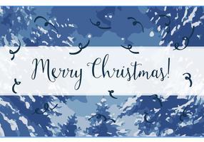 Gratis Merry Christmas Vector Achtergrond