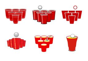 Vecteur libre de bière-pong