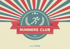 Retro Style Runners Club Illustratie