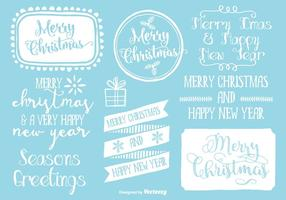 Cute Hand Drawn Style Christmas Labels