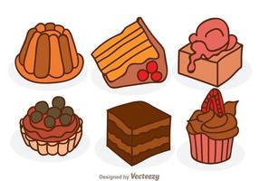 Pastel de chocolate de dibujos animados