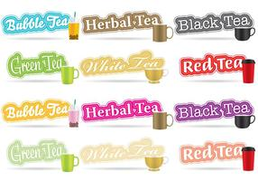 Tea Titles vector
