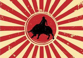 Libre vecteur bull rider