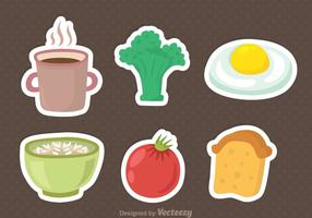 Ícones do menu de café da manhã