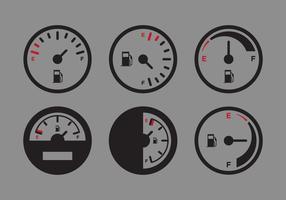 Vektor Kraftstoffanzeige