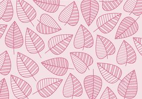 Vetor de folhas geométricas grátis