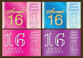 Sweet 16 Flyers vector
