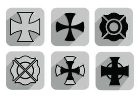 Vecteurs de croix de maltais