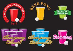 Logos de Beer Pong vetor