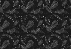 Vector de motif de feuilles de banane