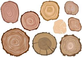 Gratis Tree Rings Vectoren